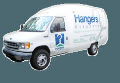 hangers delivery van